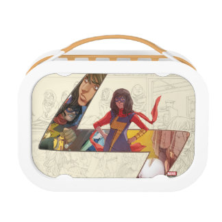 Ms. Marvel Comic Panel Logo Lunchboxes