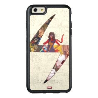 Ms. Marvel Comic Panel Logo OtterBox iPhone 6/6s Plus Case
