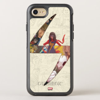 Ms. Marvel Comic Panel Logo OtterBox Symmetry iPhone 8/7 Case