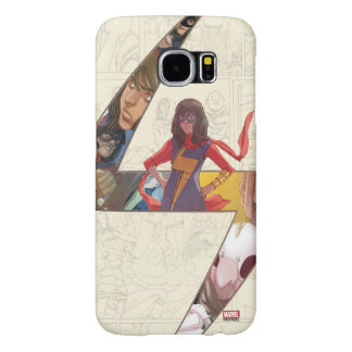 Ms. Marvel Comic Panel Logo Samsung Galaxy S6 Cases