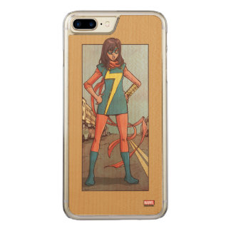 Ms. Marvel Standing In Street Carved iPhone 8 Plus/7 Plus Case