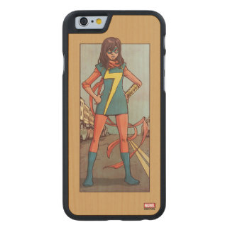 Ms. Marvel Standing In Street Carved Maple iPhone 6 Case