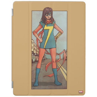 Ms. Marvel Standing In Street iPad Cover