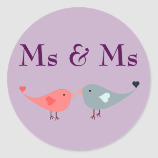 Ms & Ms (wedding) Classic Round Sticker
