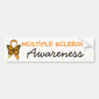 MS Multiple Sclerosis Awareness Ribbon Bumper Bumper Sticker