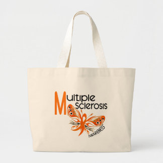 MS Multiple Sclerosis BUTTERFLY 3.1 Large Tote Bag