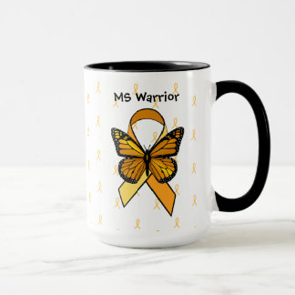 MS Multiple Sclerosis Butterfly Ribbon Coffee Mug