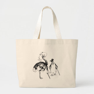 Ms Ostrich and Mr Penguin Jumbo Tote Bag