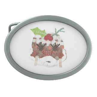 Ms Pudding Buckle Oval Belt Buckles