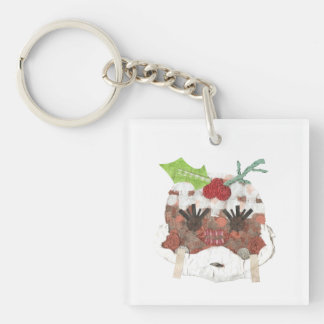 Ms Pudding Double Sided Keyring