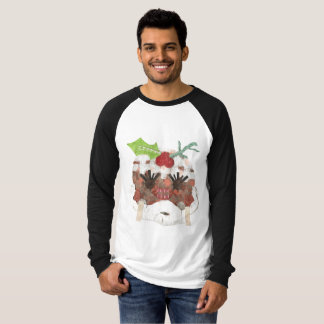 Ms Pudding No Background Men's Raglan Top