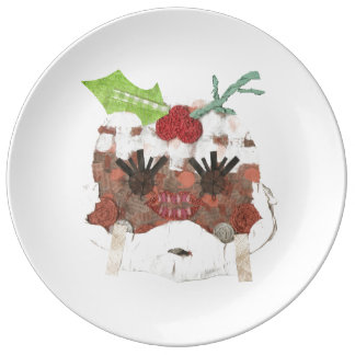 Ms Pudding Porcelain Plate