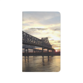 MS River Sunrise Bridge Journal |Summer Haven