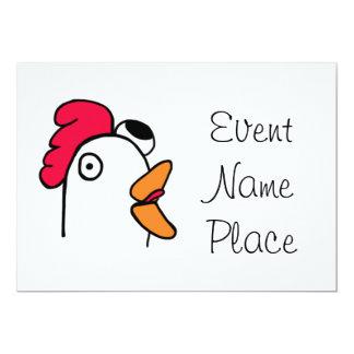 Ms. Rude Chicken Head Inviataion 5x7 Paper Invitation Card