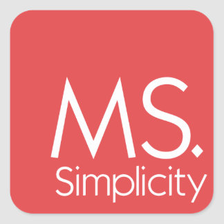 MS. Simplicity Stickers