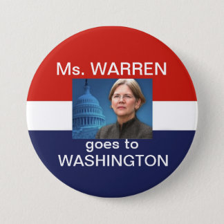 Ms. Waren Goes To Washingtonr 7.5 Cm Round Badge