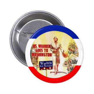 Ms. Warren Goes To Washington 6 Cm Round Badge