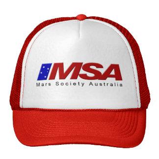 MSA Red Cap Mesh Hat
