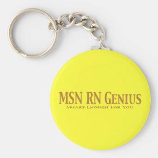 MSN RN Genius Gifts Key Ring