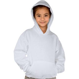 mstake White Hoddie Kids Hooded Pullovers