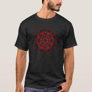 Mstar red sci-fi flower T-Shirt