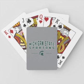 MSU Pennant | Michigan State University 4 Playing Cards