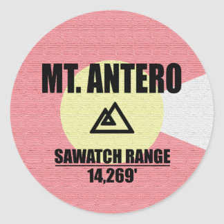 Mt. Antero Round Sticker