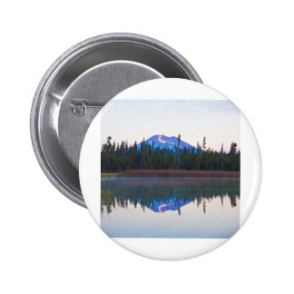 Mt Bachelor from Little Lava Lake Oregon Pinback Buttons