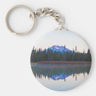 Mt Bachelor from Little Lava Lake, Oregon Key Ring