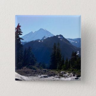 Mt. Baker from Artist Point. 15 Cm Square Badge