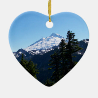 Mt Baker in Summer Ceramic Ornament