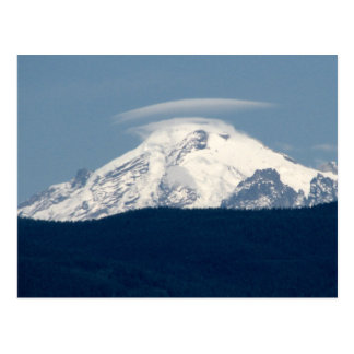 Mt Baker With Cloud Postcard