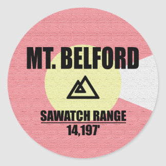 Mt. Belford Round Sticker