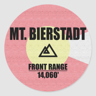 Mt. Bierstadt Round Sticker