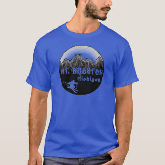 Mt. Brighton Michigan skier T-Shirt