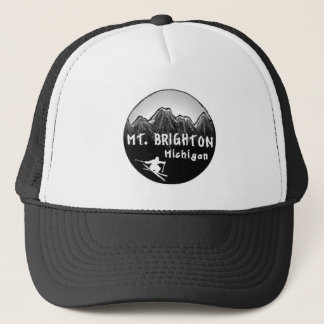 Mt. Brighton Michigan skier Trucker Hat