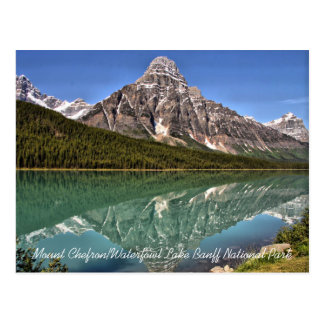Mt. Chefron & Waterfowl Lake Postcard