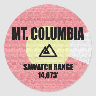 Mt. Columbia Round Sticker