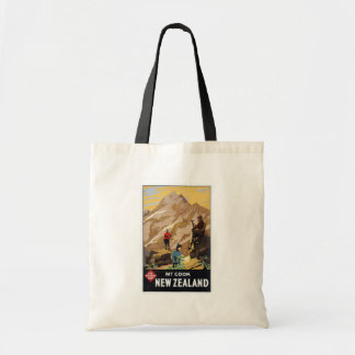 Mt.Cook New Zealand Mountains Vintage Travel Bags