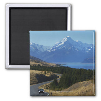 Mt. Cook, New Zealand Square Magnet