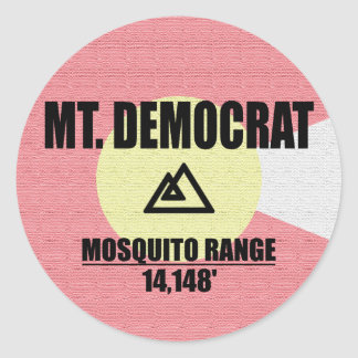 Mt. Democrat Round Sticker