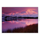 Mt. Denali at sunset from Reflection Pond Card