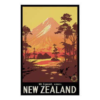 Mt Egmont New Zealand Print