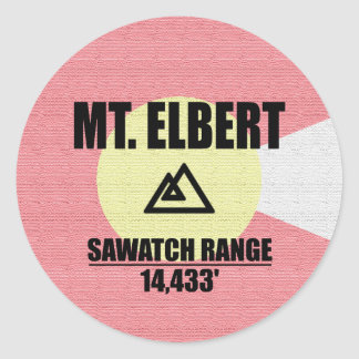 Mt. Elbert Round Sticker