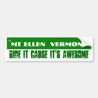 Mt Ellen 2 Bumper Sticker