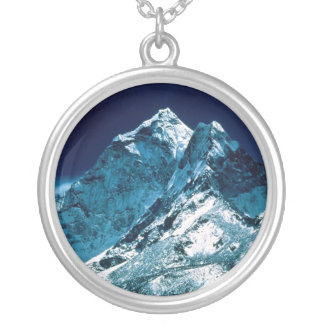 Mt. Everest Silver Plated Necklace