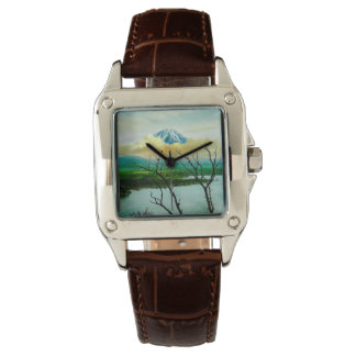 Mt. Fuji 富士山 Through the Pines Vintage Japanese Watch