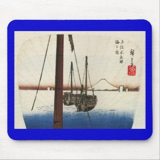 Mt Fuji and Boats Japan Circa 1800 s Mousepads