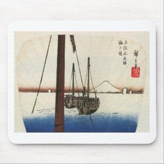 Mt Fuji and Boats Japan Circa 1800 s Mouse Pads