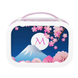 Mt Fuji Cherry Blossoms Spring Japan Night Sakura Lunch Box